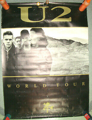 U2 JOSHUA TREE Giant Poster 60 X 40 Inches LONDON 1987 • 35£