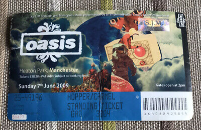 OASIS TICKET Heaton Park Manchester 7th June 2009 Dig Out Your Soul Tour Used • 20£