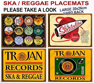 Ska Reggae Placemats, Northern Soul Placemat, Scooter Placemats, Trojan Placemat • 8.75£