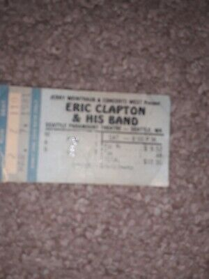 Eric Clapton,Ticket Stub,Seattle U S A 1981 • 5.99£