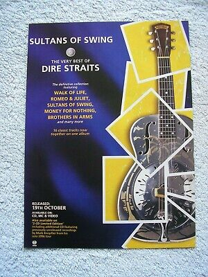 DIRE STRAITS - SULTANS OF SWING - BEST OF - ADVERT - 21 X 29cm.  • 2.54£
