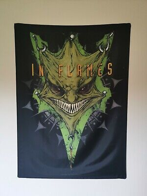 In Flames Come Clarity Mask Textile Poster / Flag • 5£