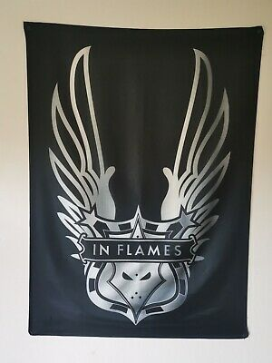 In Flames Emblem And Wings Textile Poster / Flag • 5£
