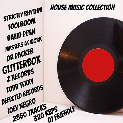 House Music Collection - Digital - DJ Friendly - 2850 Tracks - Quick Delivery • 12.50£