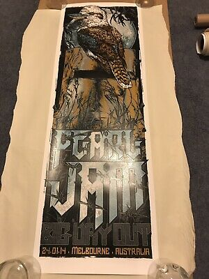 PEARL JAM - Melbourne Australia 2014 Rhys Cooper Poster Big Day Out Festival New • 120£