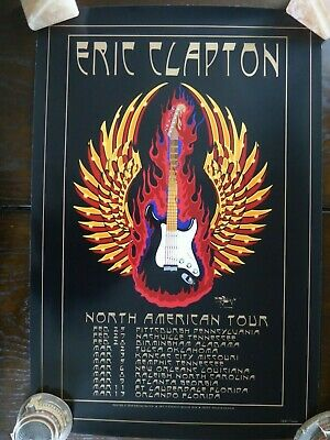 ERIC CLAPTON - North American Tour 2010 Poster Ltd Ed Stanley Mouse MINT • 50£