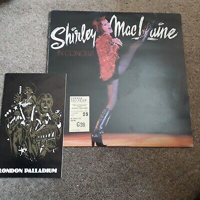 Shirley Mclaine In Concert Lp With Programme& Ticket Stub • 2.99£