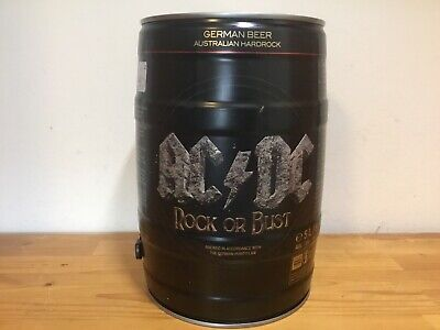AC/DC Empty Beer Keg Upcycling Memorabilia Rock Or Bust ACDC • 25£
