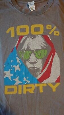 Sonic Youth T Shirt, '100% / Dirty', Grey, Large  Size • 4.99£
