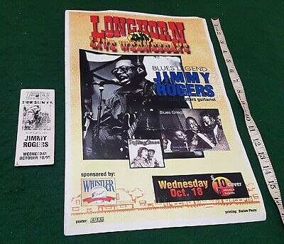 Rare Gig Poster 1995 Chicago Blues Legend Jimmy Rogers • 5.99£