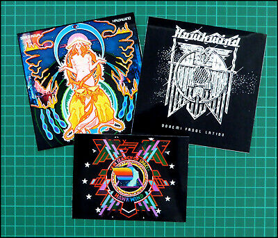 HAWKWIND, Set Of 3 Large Glossy Vinyl Stickers, Doremi, In Search Of Space Etc • 3.49£