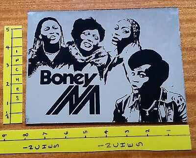 BONEY M    OLD MIRROR    Approx.  Size 8 Inches X 6 Inches   1970's 1980's POP • 3£