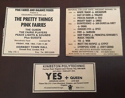 Rare SMILE / QUEEN 1970/71 Concert Adverts X 2 • 9.99£