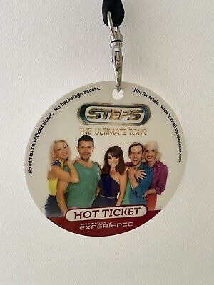 Steps The Ultimate Tour Hot Ticket & Lanyard • 5£