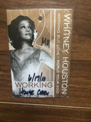 Rear Whitney Houston Nothing But Love 2010 Stage Pass • 20£
