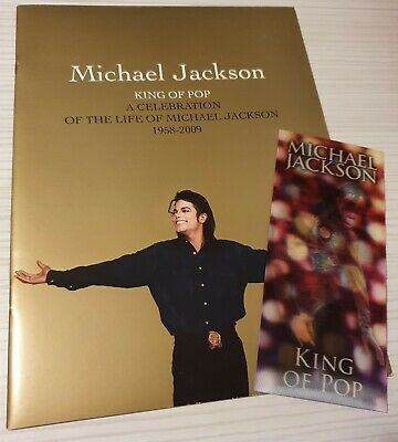 Michael Jackson Memorial Book And King Of Pop Ticket • 19.99£