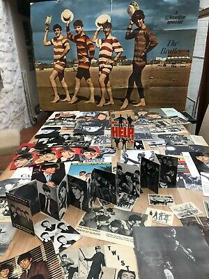 JOB LOT -  ORIGINAL POSTERS , BOOKS ,NEWSPAPERS CUTTINGS -THE BEATLES -MID 1960s • 7.27£