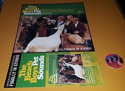 The Beach Boys Pet Sounds 2 Sided Promo Poster For Stero Release Concert Button  • 13.25£