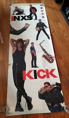 Vintage 1987 INXS Kick Tour Huge 6 Ft Door Poster  80s Rock USA • 53.64£