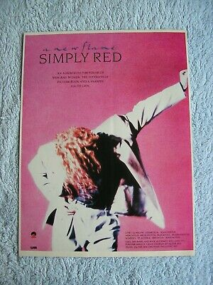 SIMPLY RED - A NEW FLAME - ADVERT - 21 X 27cm. • 2.54£