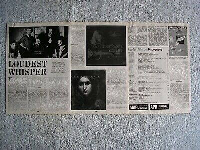Loudest Whisper - 4 Page Article, Photos, Discography.  • 1.84£