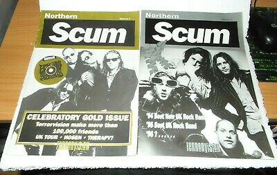 TERRORVISION 2 Fan Club Magazines Northern Scum #3 & Celebratory Gold Issue • 4.99£