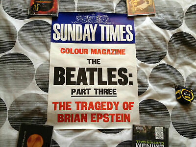 Beatles Original  Sunday Times Poster  Tragedy Of Brian Epstein • 35£