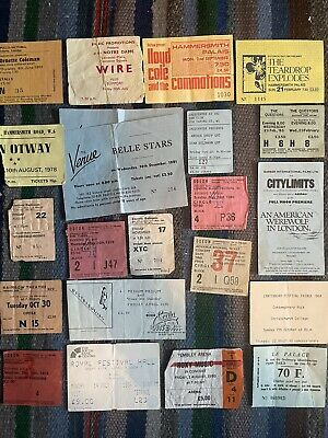 Rock Punk Jazz 1970's/80'sConcert Ticket Stubs Various XTC Wire Otway Roxy Music • 1.20£