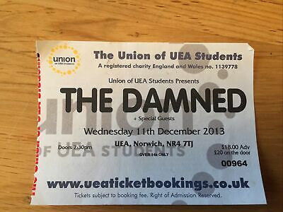 The Damned UEA Ticket 2013 • 9£