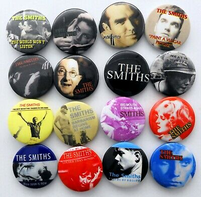 THE SMITHS AND MORRISSEY BUTTON BADGES 16 X New Smiths Pin Badges • 4.20£