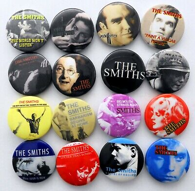 THE SMITHS AND MORRISSEY BUTTON BADGES 16 X New Smiths Pin Badges • 3.20£