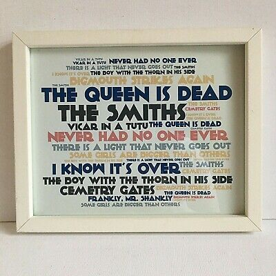 The Smiths Song Titles Framed Print Picture Morrissey Johnny Marr Glazed • 12.99£