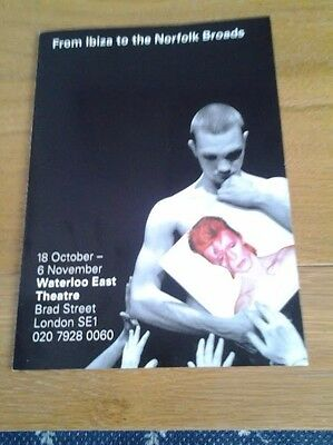 Bowie Related, Very Rare Flyer, From Ibiza To The Norfolk Broads • 2£