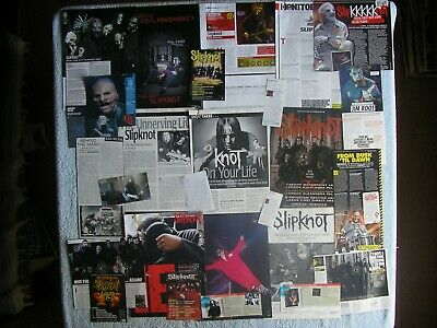 Slipknot - Magazine Cuttings Collection - Clippings, Articles, Photos X26. • 2.94£