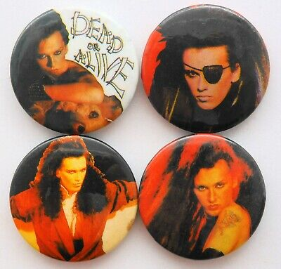 DEAD OR ALIVE BUTTON BADGES 4 X Vintage Dead Or Alive Pin Badges * Pete Burns * • 3.20£