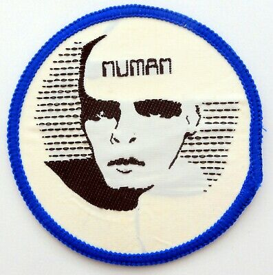 GARY NUMAN 'Face' Vintage Woven Patch * Tubeway Army * • 2.95£
