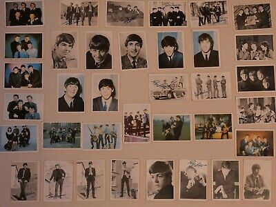 Collection Of The Beatles Cards Mounted On Board Facsimile Beatles Signatures • 0.99£
