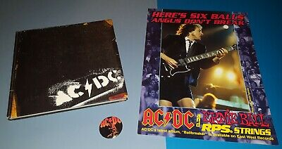 Ac/dc Backtracks Hardbound Book 160+ Pgs , Promo Ballbreaker Poster Show Button  • 48.60£