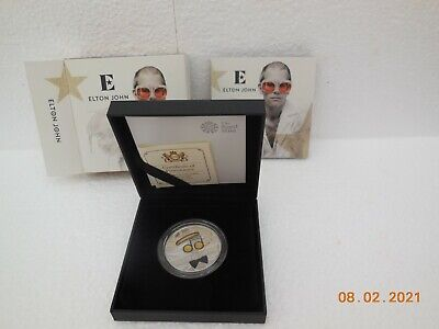 Elton John ~ Limited Numbered Edition ~ U.K Silver Proof • 100£