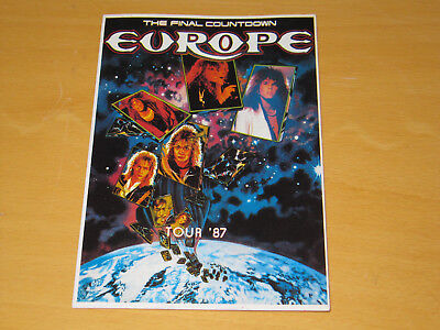 Europe - The Final Countdown Tour - Vintage Postcard                    (promo) • 4.99£