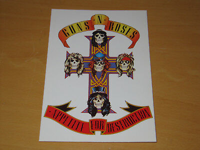 Guns 'n' Roses - Appetite For Destruction - Vintage Postcard             (promo) • 4.99£