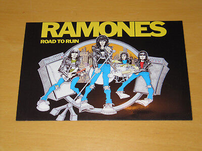 The Ramones - Road To Ruin - Vintage Postcard                            (promo) • 4.99£