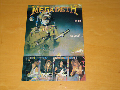 Megadeth - So Far So Good So What - Vintage Postcard                    (promo) • 4.99£
