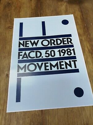 New Order 'Movement' A3 Print Super Quality Professionally Printed • 4.95£