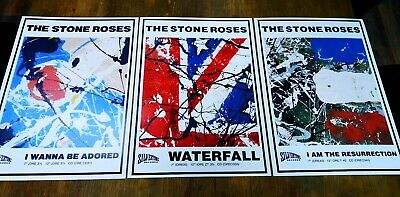 The Stone Roses Set Of 3 A3 Prints Super Quality 300 Gsm Art Paper Waterfall Etc • 12£