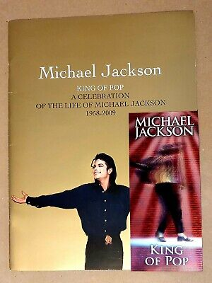 Michael Jackson Programme And Ticket - King Of Pop Tour • 26£