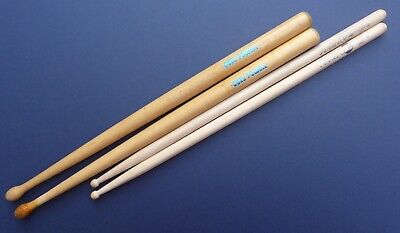 2 Pairs Vintage Drum Sticks 1970s/80s Cozy Powell Zildjian Planet Z 6A • 5.50£
