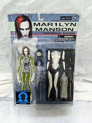 Marilyn Manson Mechanical Animals Fewture Models Action Figure FA-M02 Rare Boxed • 50£