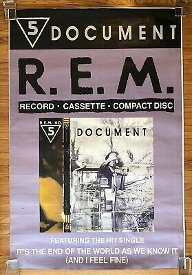R.E.M. Document 1987 I.R.S. UK SUBWAY PROMO Only POSTER Michael STIPE Huge! REM • 107.29£