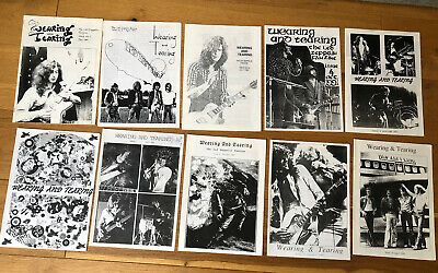 Led Zeppelin Wearing And Tearing Fanzine Issues 1 - 10 1991 Tight But Loose RARE • 150£